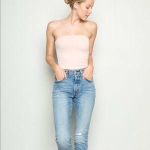 Brandy Melville Blush Pink Tube Top OS